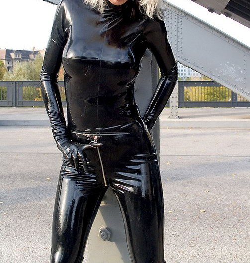 61ee36f9d Latex Rubber/fetishism/Uniform/superstition/Costume/party/sexy/Ms. blouse  and trousers/OEM47